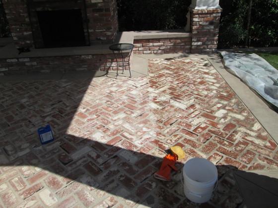 Clean Brick Patio