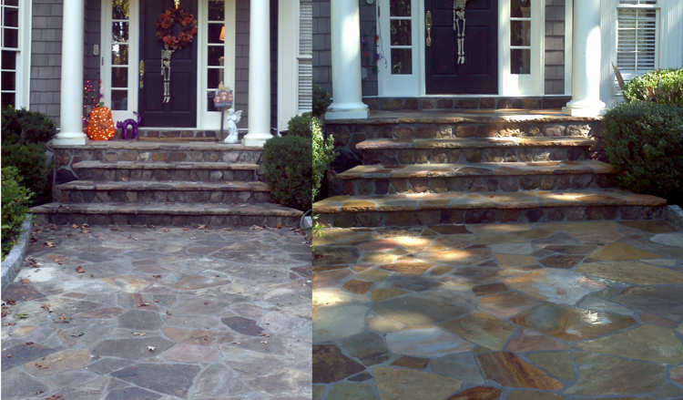 Attractive Flagstone Patio Cleaning Power Washing Raleigh