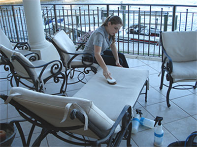 Image result for cleaning patio furniture