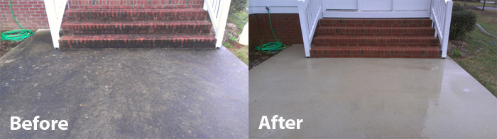 Delightful Cleaning Concrete Patio Pressure Washing Raleigh