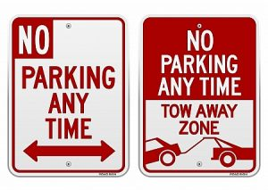 parking lots signs